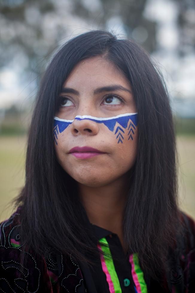 Zara Monroy, cantante de hip-hop seri. México, CDMX. Foto: Alejandro Saldívar
